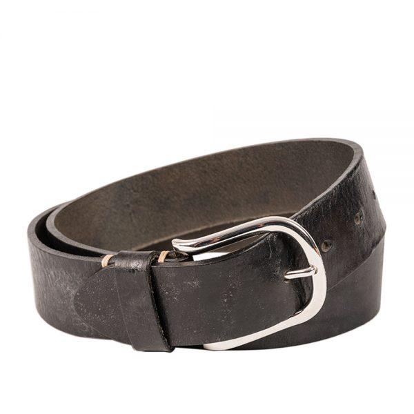 Kranz Herrengürtel Luitpold in schwarz mit silberner Schließe