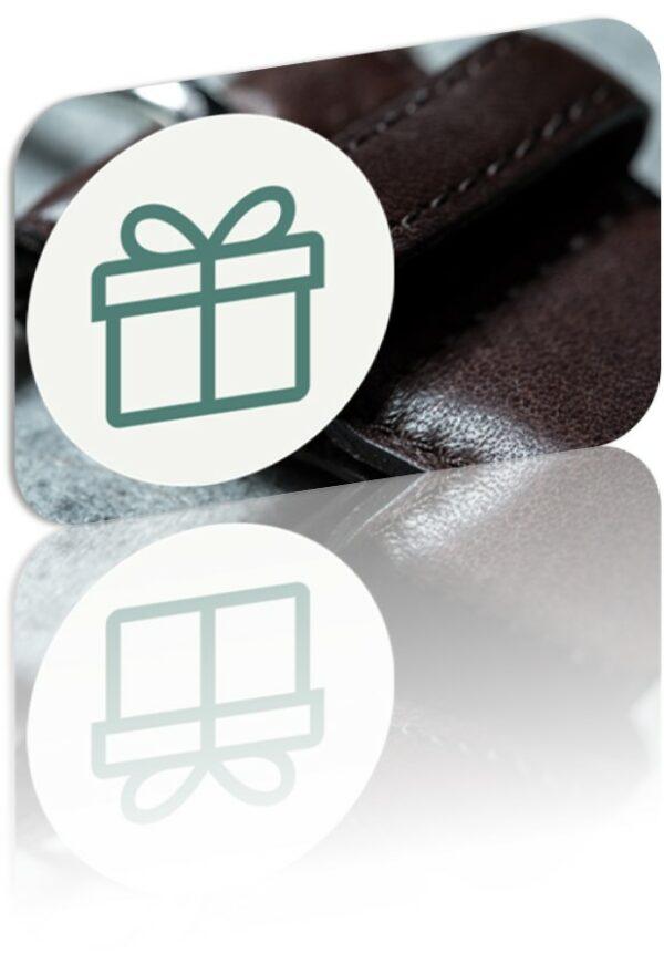 Geschenkkarte Kranz Ledergürtel