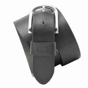 Gürtel Chiemseer mit Logo Branding und silberner Schließe